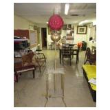 """Piano Lamp. Electrified. 59""""T to Shade Ring x 17"""""""