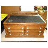 """J&P Coats Spool Cabinet 17""""T x 32 3/4""""W x 23"""