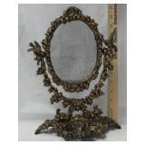 Cast Iron Dresser Mirror w/ Pin Dish