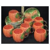 16pc Pumpkin Halloween Dinnerware