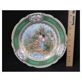 H.P. Victorian Plate w/ Maiden, Cupid, & Putti