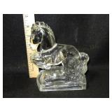 Crystal Rearing Horse Figurine. Teeny Chip