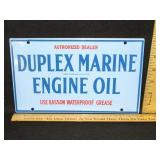 Porcelain Duplex Marine Oil Sign