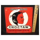 Porcelain Choctaw Machinery Sales Sign