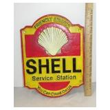 Cast Iron Shell Service Station Sign