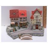 Hummel Cottages w/ 4 Figurines