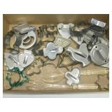 Lot of Metal Cookie Cutters