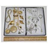 Lot Vintage Costume Jewelry. Case Not Included