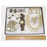 Lot Vintage Costume Jewelry. Case Not Included.