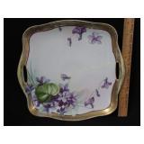 H.P. Nippon Tray w/ Violets