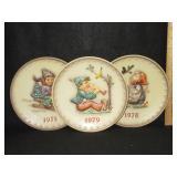 3 Hummel Plates 1975, 78, & 79