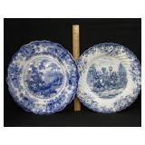 Flow Blue Plate & Johnson Bros. Plate