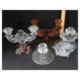 4 Antique Candelabras & Candlesticks