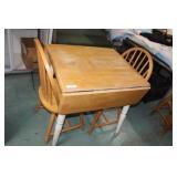 Drop Leaf Breakfast Table & 2 Chairs 30x27x30.5