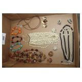 Costume Jewelry, Glass Stone, Plastic