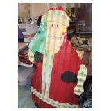 Vintage Handmade Painted Santa Claus 34x60