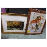 Robin Conover Print & Tin in Frame