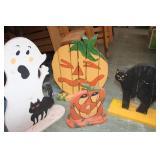 4 Wooden Yard Displays for Halloween