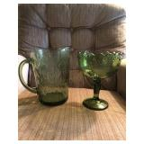 Green Glass Pitchers -Vases