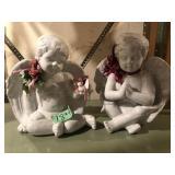 (2) Porcelain  Angels
