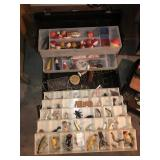 (2) Fishing Tackle Boxes, Lures, Bobbers, Etc.