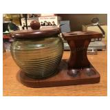 Tobacco Jar and Pipe Stand
