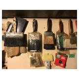 Contents of Wall, PaintBrushes, Etc.