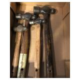 (4) Ball Pin Hammers, (2) Claw Hammers