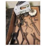 Power Shot Stapler, Hole Saws, (2) Flaring Tools,