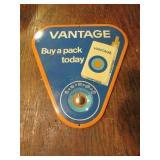 Metal Vantage Thermometer Advtisement Sign