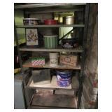 Metal Shelf w/ Contents
