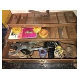 Metal Tool Box and Contents