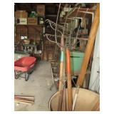 Garden Tools, Rakes, Pitch Fork, Misc Handles
