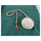 Helbros Pocket Watch, Gold Plated, 6  10  Microns