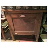 Wooden Cabinet w/ Leather Smith Suplies
