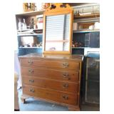 Vintage Drexel dresser with detached mirror