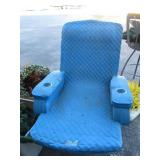 Sky blue Baja solid foam pool lounger