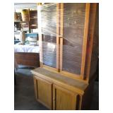 Vintage oak custom gun cabinet