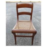 Antique oak chair w/ cane seat