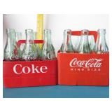 Pair of vintage Coke plastic cartons w/ bottles