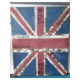 Metal art England flag wall pocket/organizer