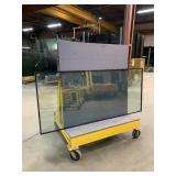 HD Welded Steel Glass Roller Cart