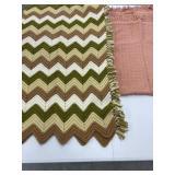 Crochet Throw & Rusty color Throw