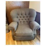 Lane Recliner Brown Tuffet Chair/Recliner