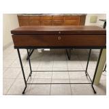 Sofa Table Wood on Metal BaseTop