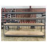 Metal & Wood Shelf measures 8 ft x 5 ft x 2 ft