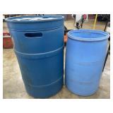 Plastic 55 gal & 30 gal Barrels