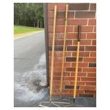Three Metal Garden Yard Rakes