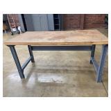 """Metal & Wood Top Shop Work Table 60""""x30"""""""