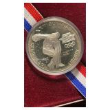 US Coins 1983 Proof Olympic Silver Dollar